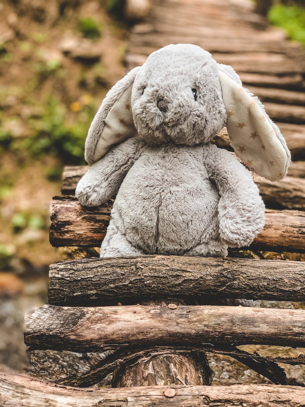 brown rabbit plush toy