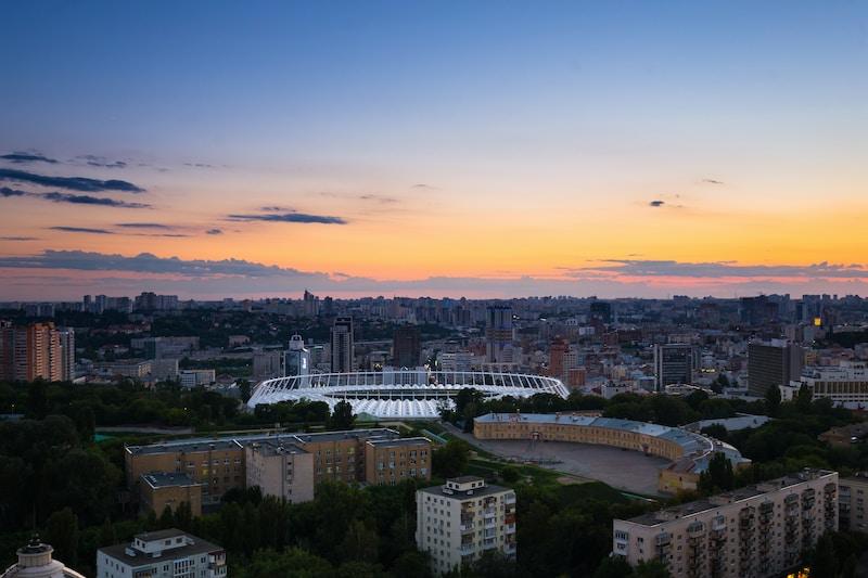 Coldest places in Ukraine by minimum mean temperature