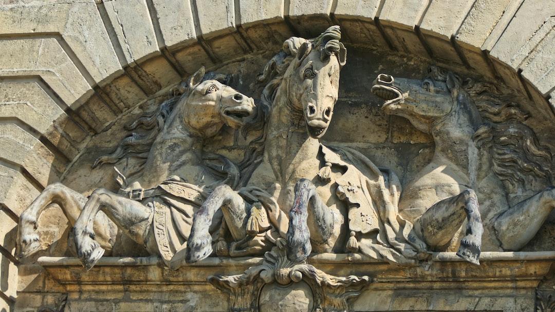 Fronton du musée du cheval à Chantilly