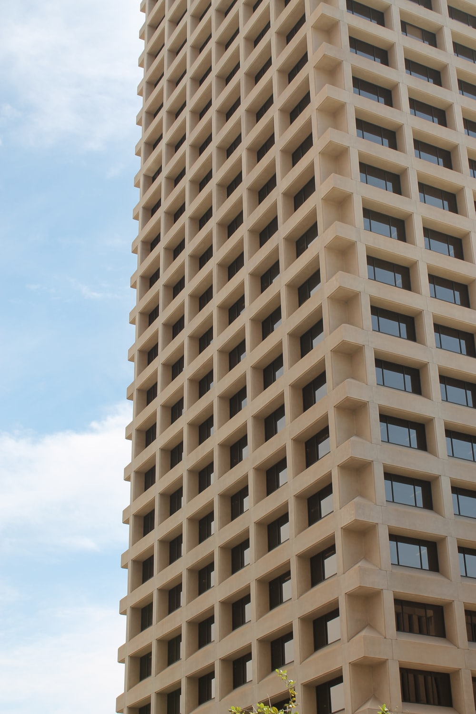 beige high rise building