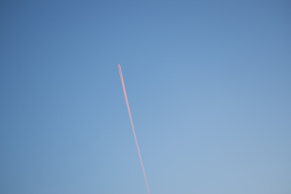 contrail with clear blue sky