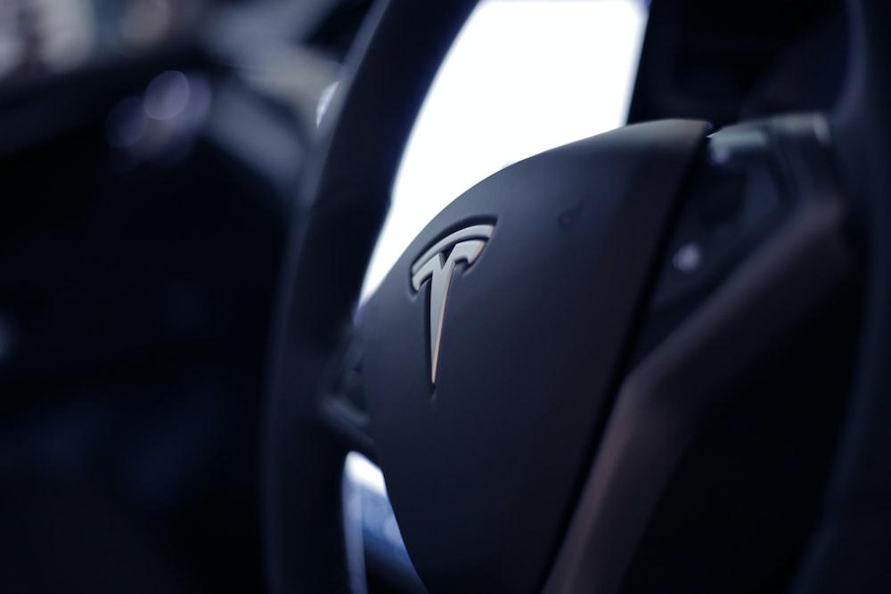 black Tesla airbag