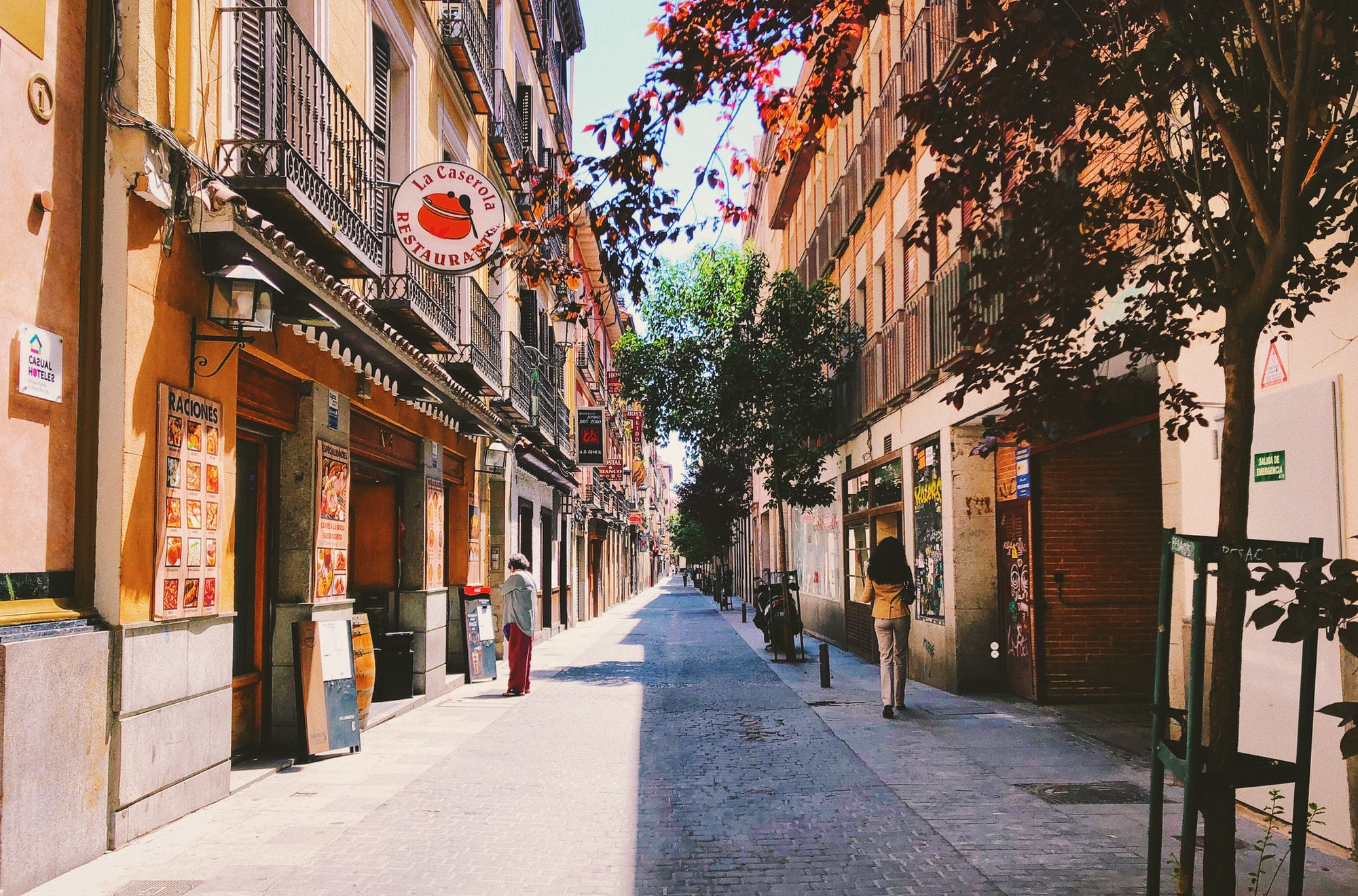 Rue de Madrid en Espagne