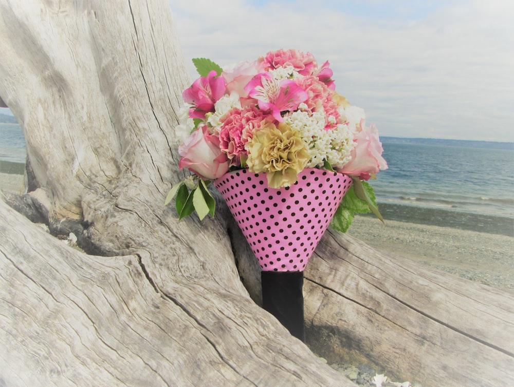 flower arrangement in basket