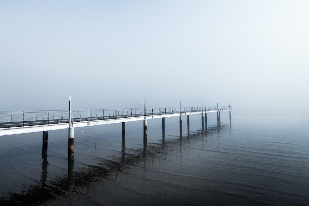empty dock in ocean