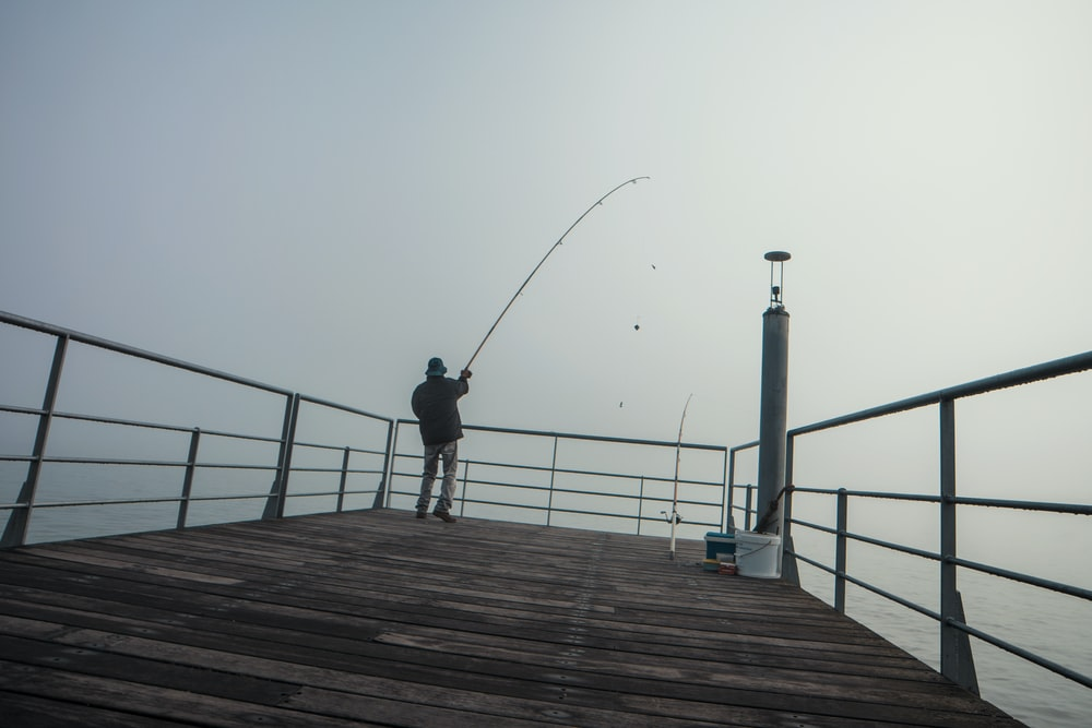 unknown person fishing