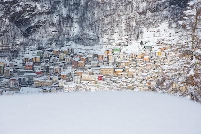 village during winter