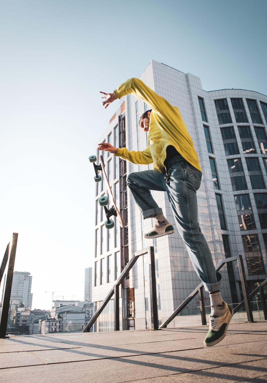 skateboard doing stunts