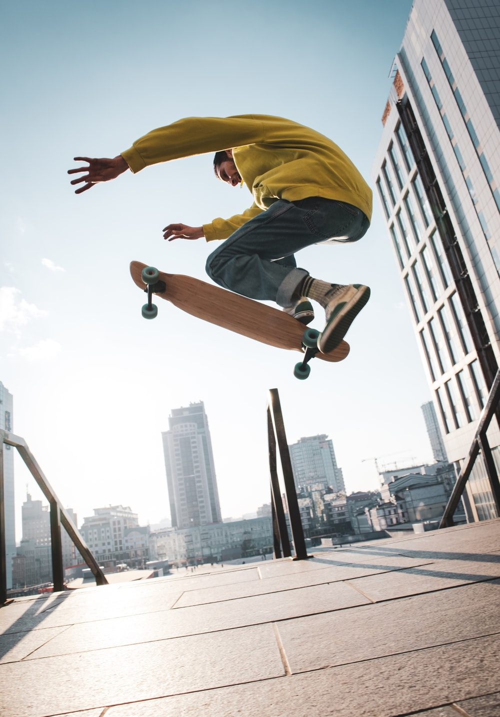 skateboarder doing stunts