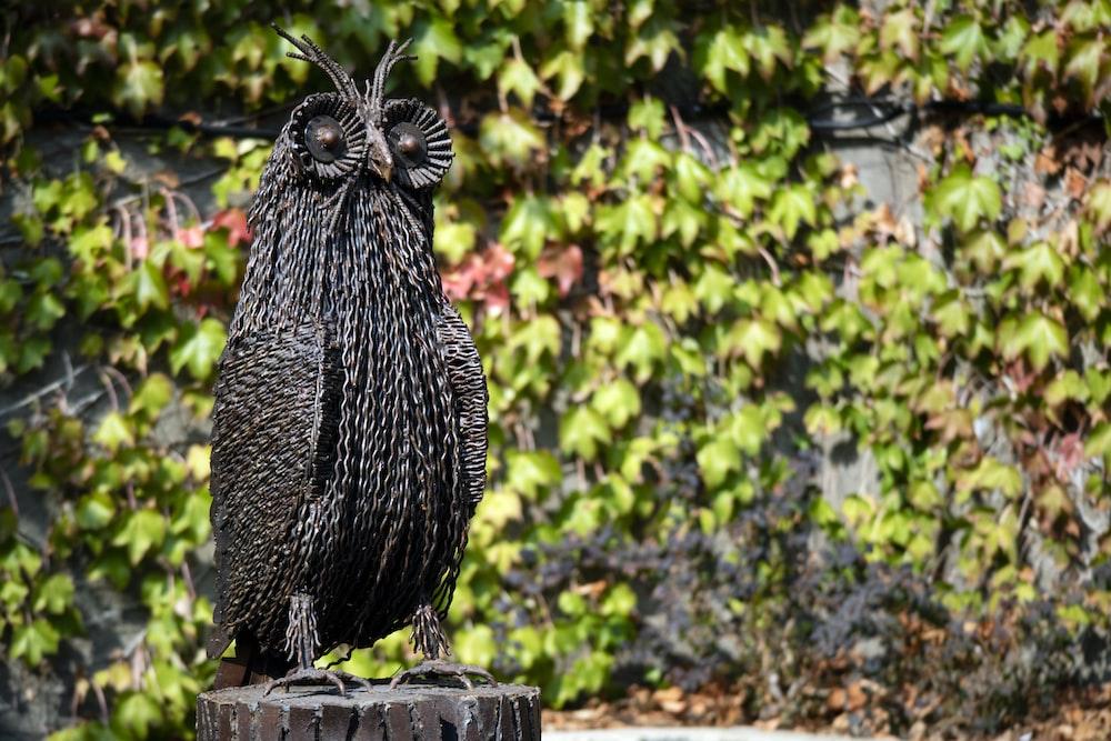 black owl figurine