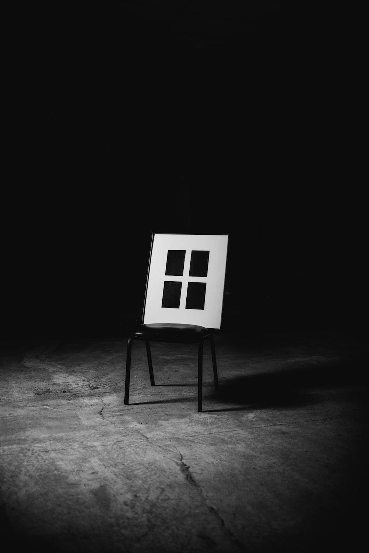 black and white wall fram e