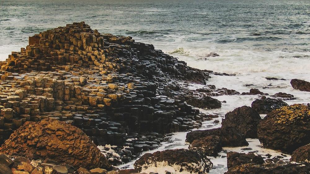 beach cliff viewing sea
