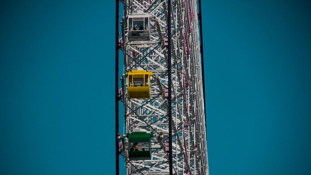 high-angle of Ferris wheel