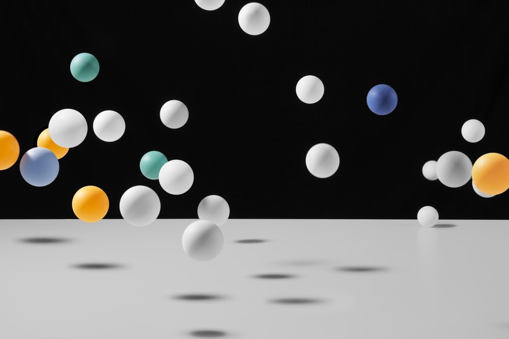 assorted-color bubbles illustration