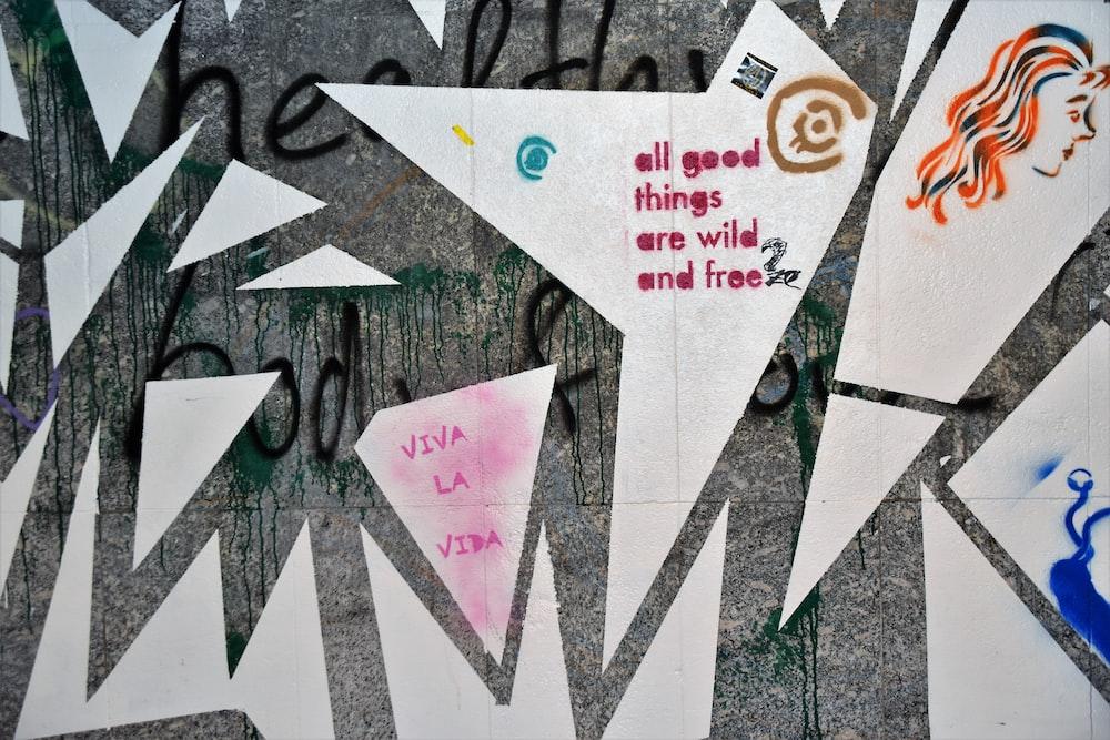 multicolored graffiti wall