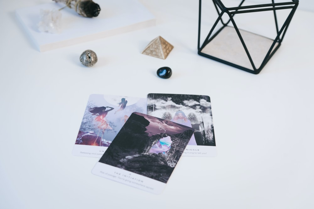 three photos on white surface
