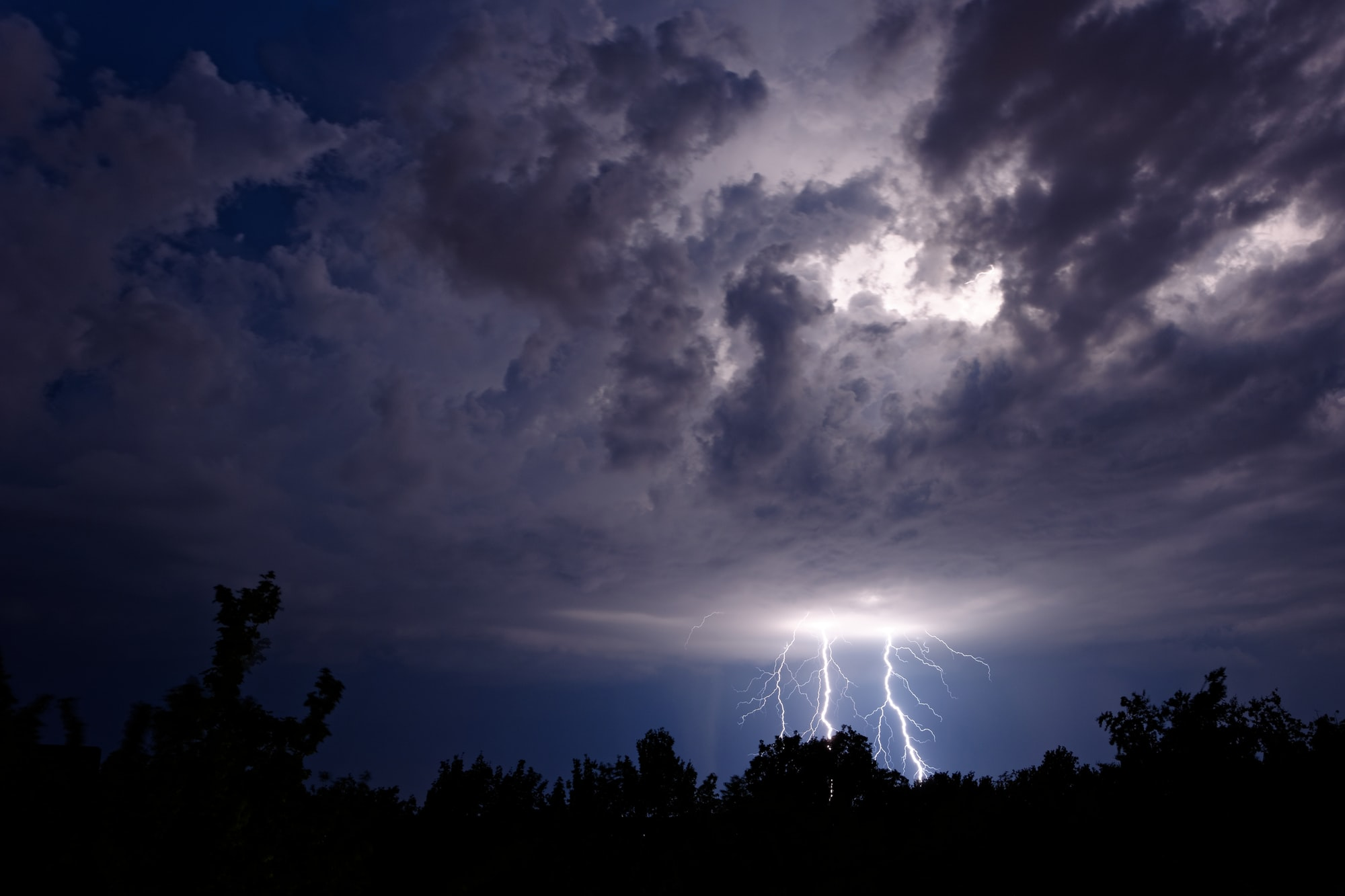 It was a warm summer night when a thunderstorm passed - and I could easily watch it from my balcony. What a fascinating spectacle!