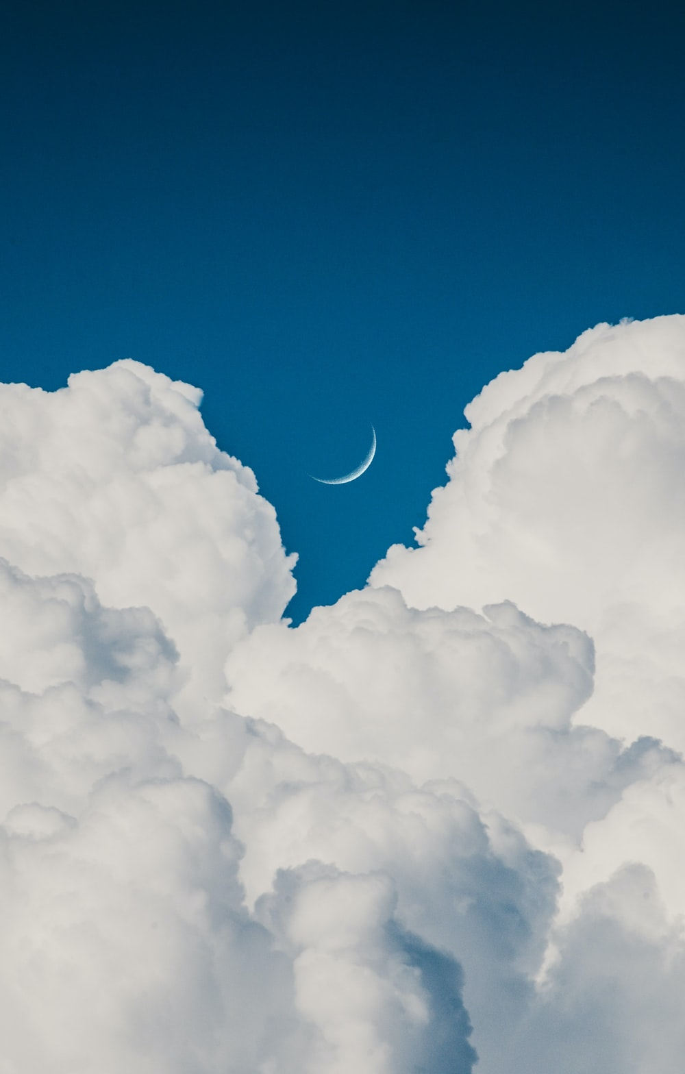 moon view from clouds