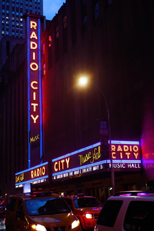 Radio City neon signage