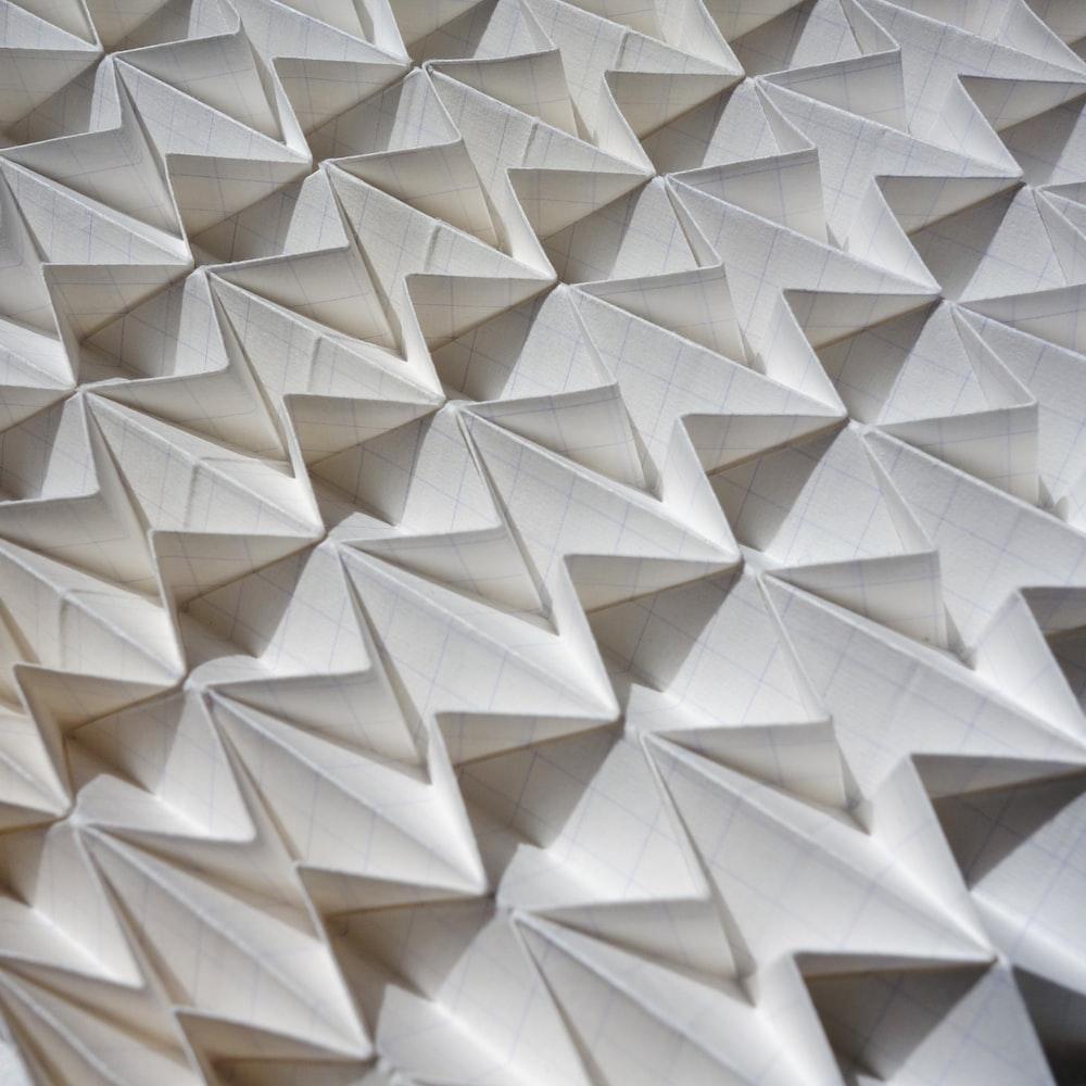 white paper artwork in closeup photo
