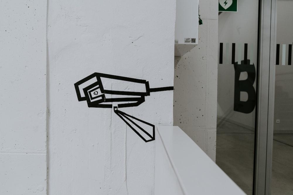 black security camera sketch