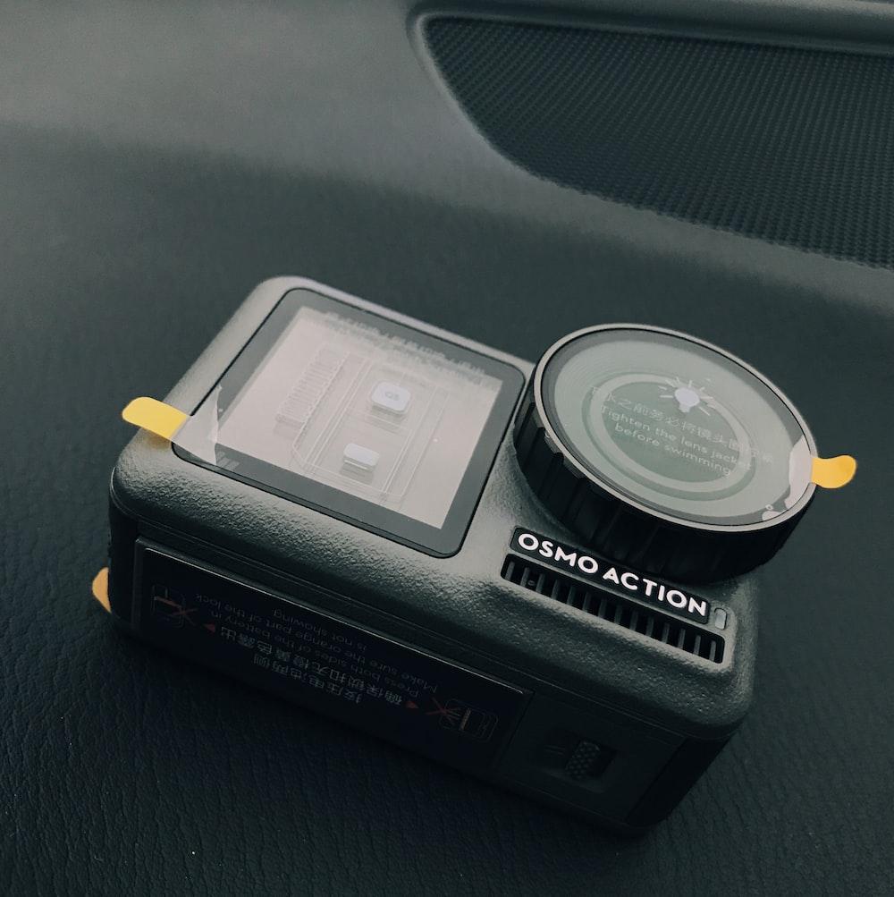 gray action camera
