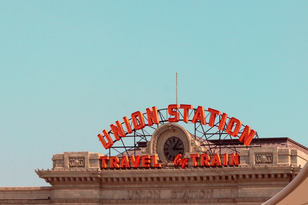 Union Station Travel and Train signage