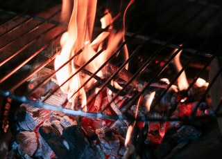 grill above fire