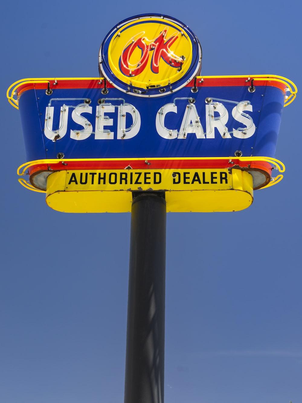 ok used cars signage