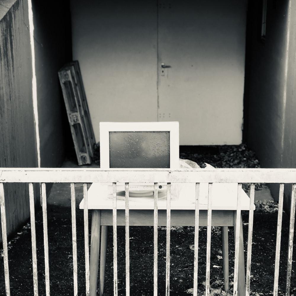 white CRT monitors