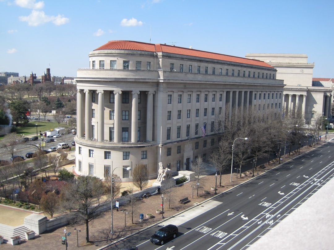 Apex Building as seen from the Newseum balcony, Washington, DC, March 30, 2013. Home of the Federal Trade Commission.