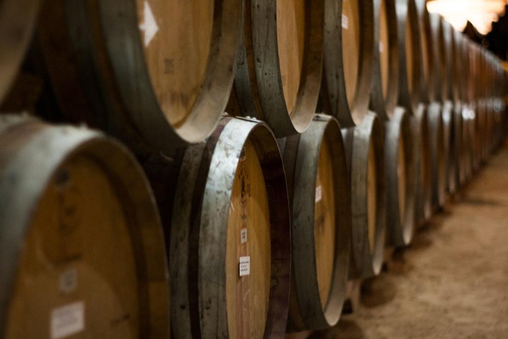 brown and gray barrels