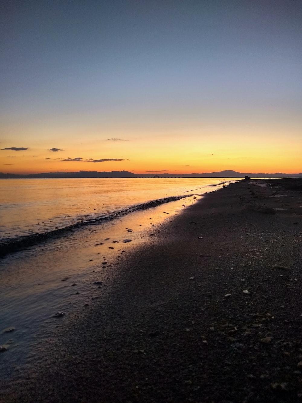 black sand at the beach