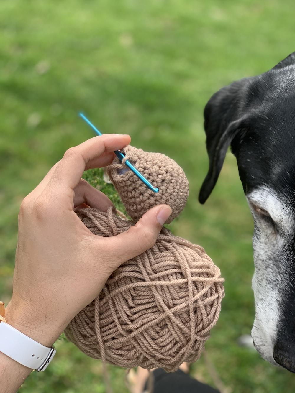 brown ball yarn