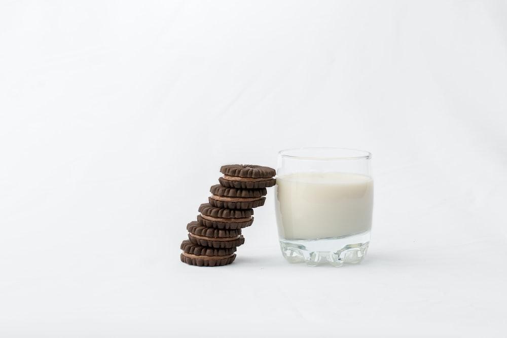 cookies beside milk