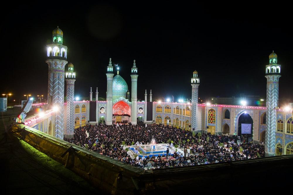 Taj Mahal during nighttime