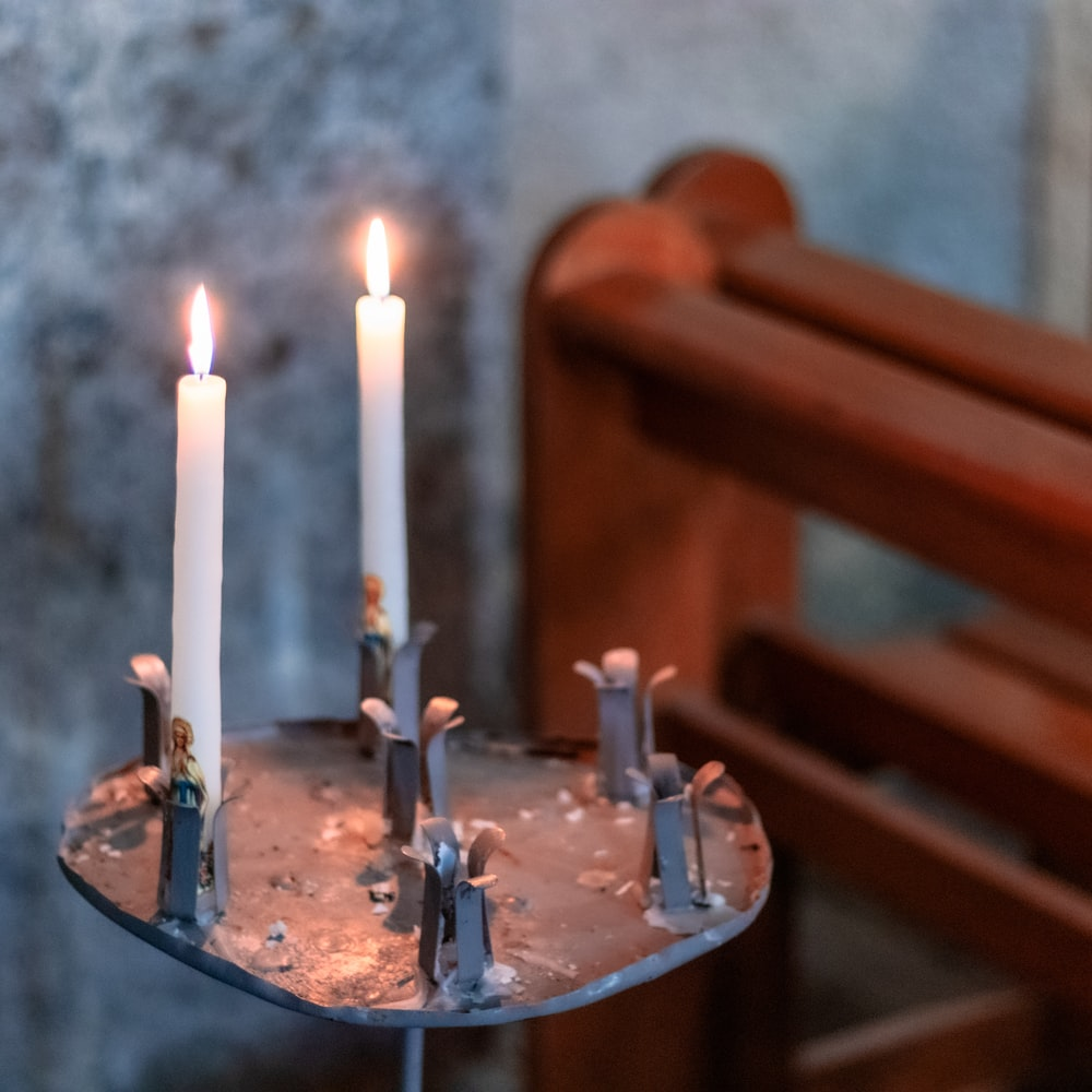 two white candles