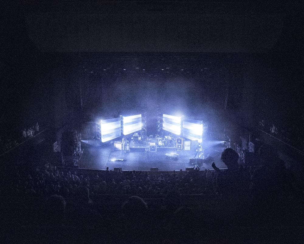 black stage