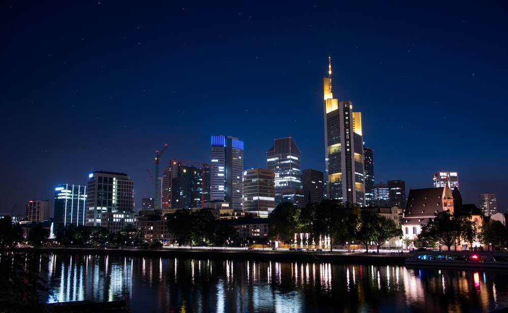 panoramic photography of urban area at night