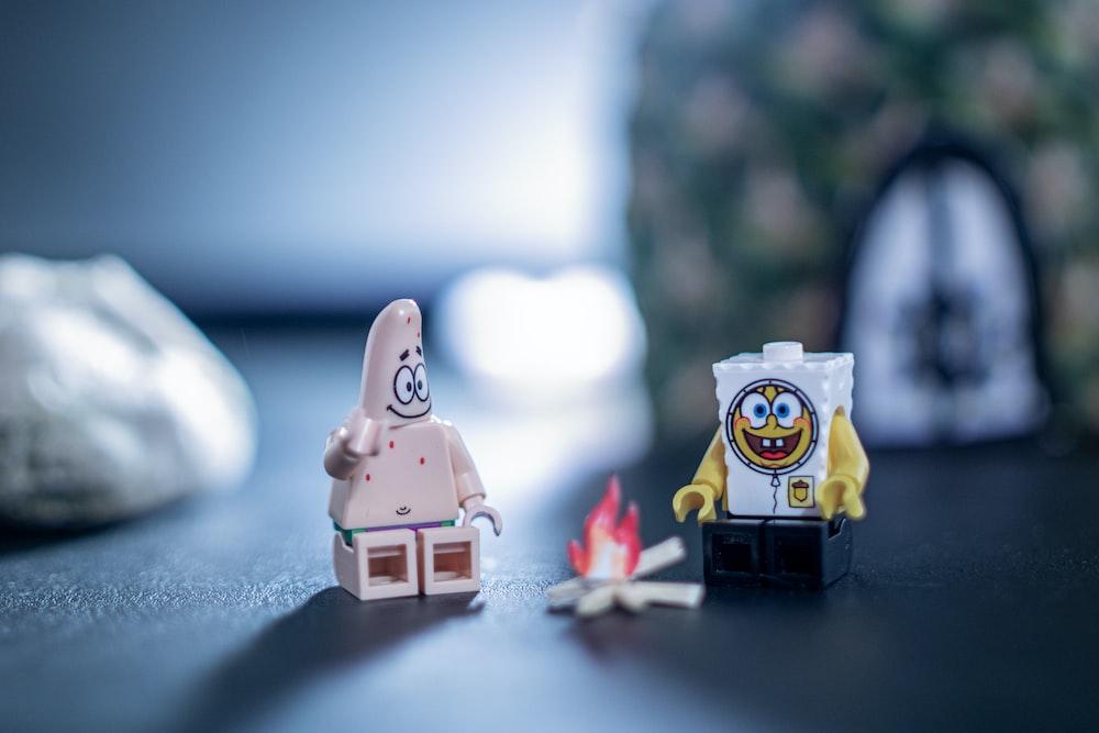 Lego Spongebob and Patrick toys
