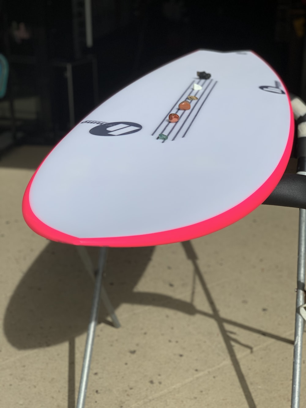white surfboard