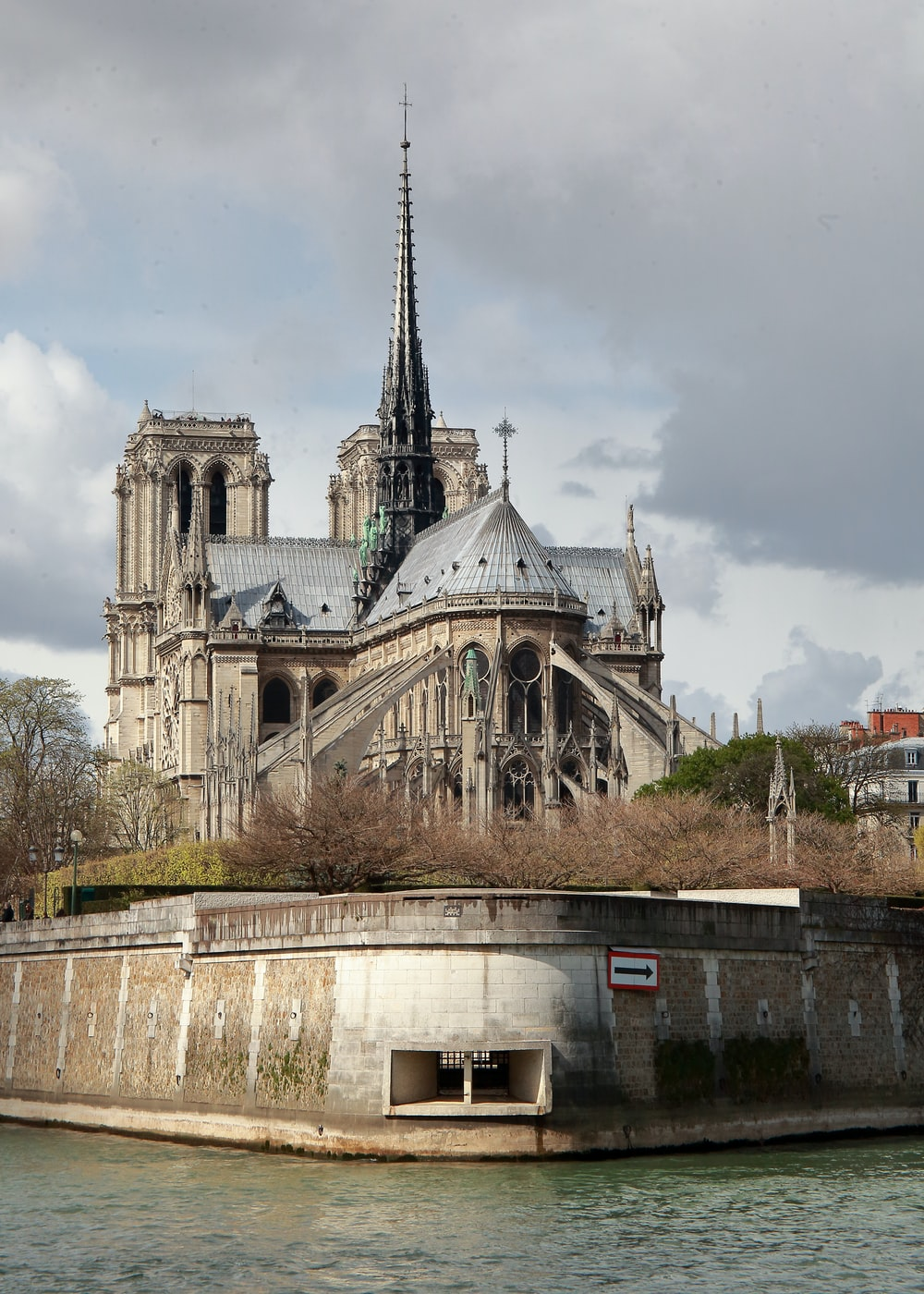 body of water near Notre Dame