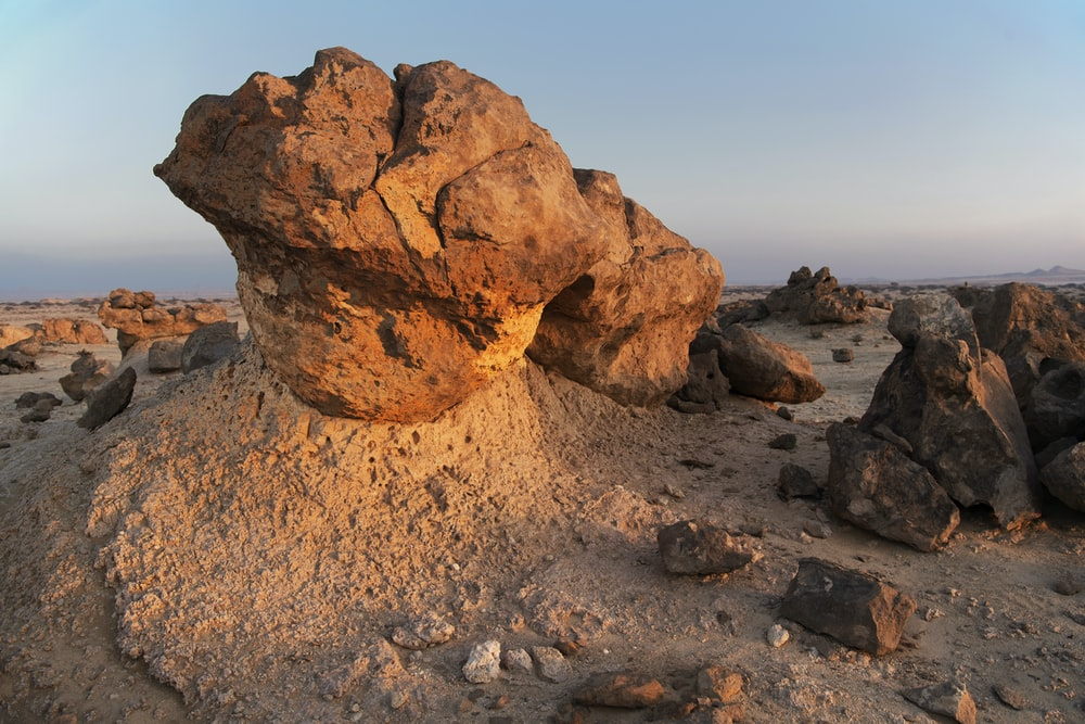 brown stone formation