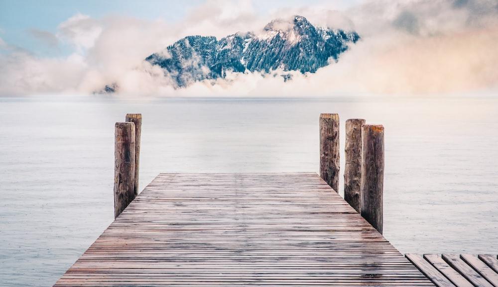 brow wooden dock