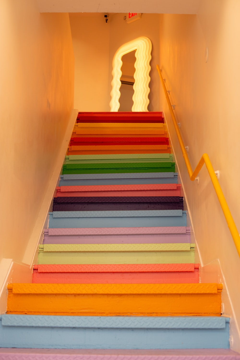 multicolored stairs