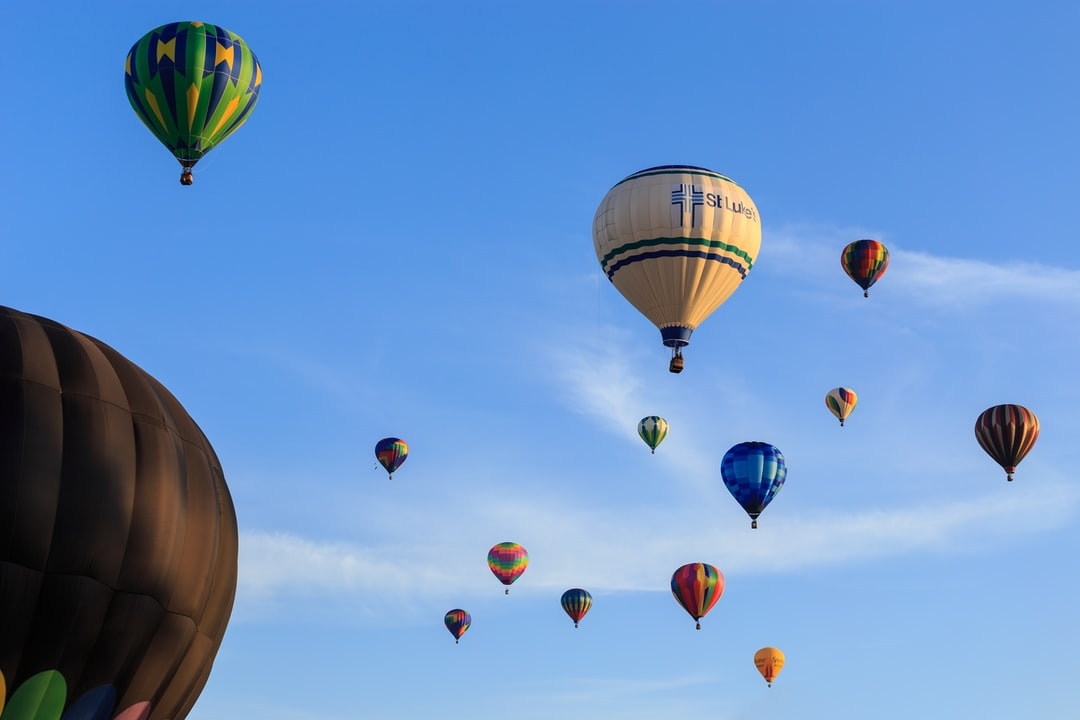 Balloons rise into the morning sky during Walla Walla's annual Balloon Stampede in October, 2015. The spectacular hot air balloon celebration takes place each fall and typically launches from Howard-Tietan Park.