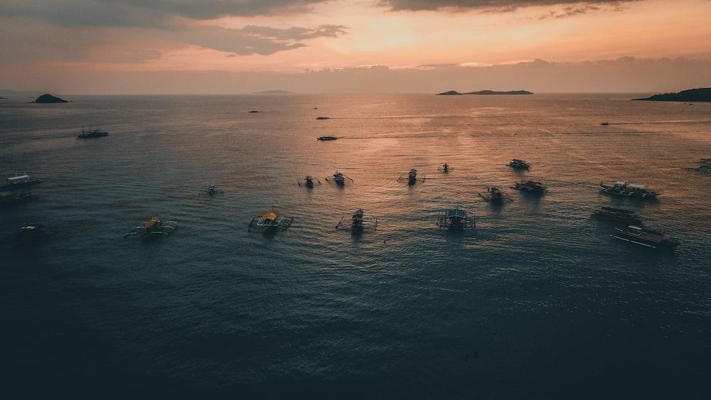 sailboats in ocean