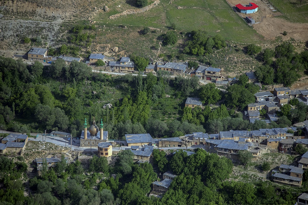 aerial photography of building near trees during daytime