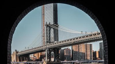 gray bridge during daytime new york city zoom background