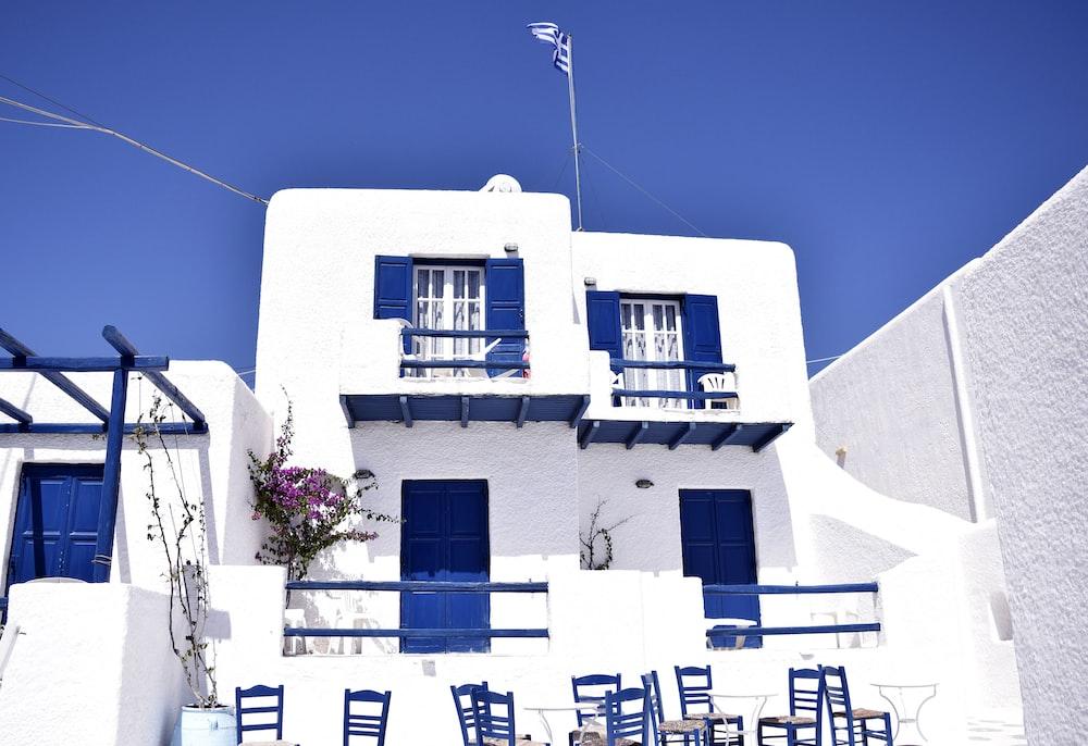 white 2-storey house
